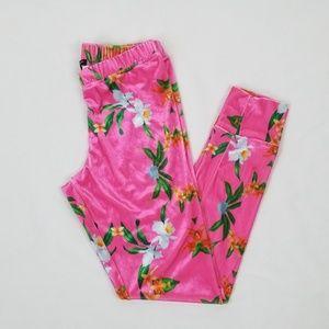 Wildfox Intimates Pink & Floral Print Pajama Pants